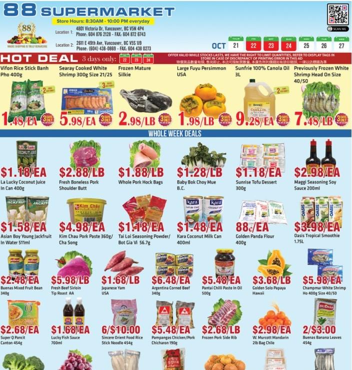 88 Supermarket Flyer   Oct 22