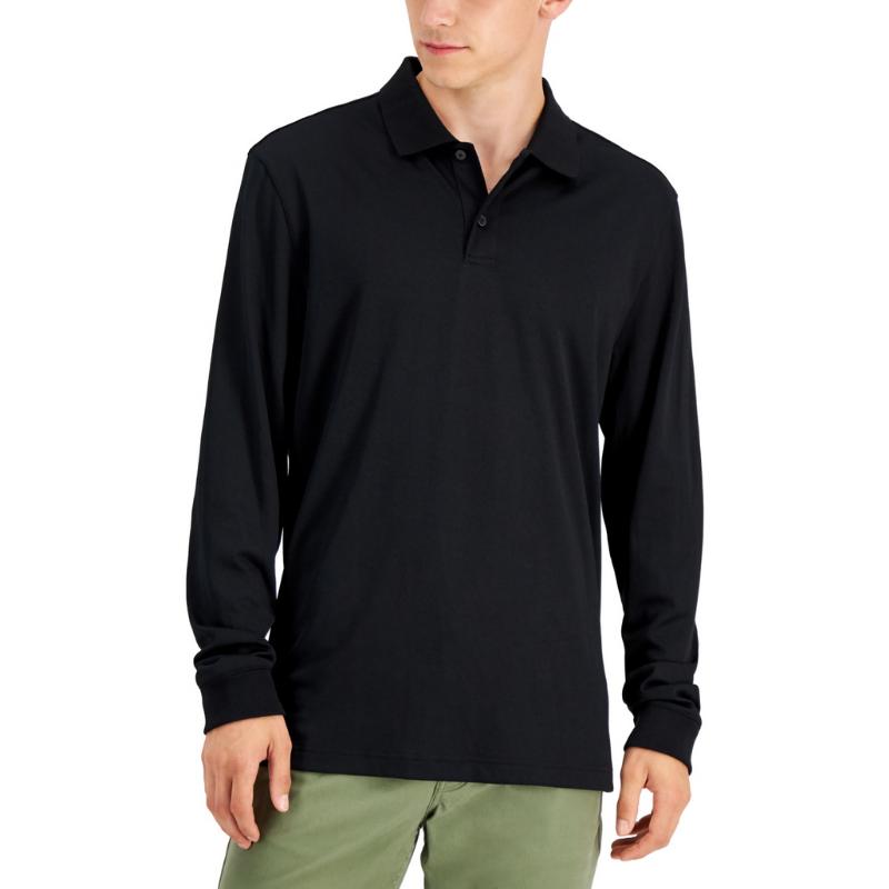Alfani Men's Regular-Fit Solid Long-Sleeve Supima Cotton Polo Shirt, Created for Macy's – Macy's Canada