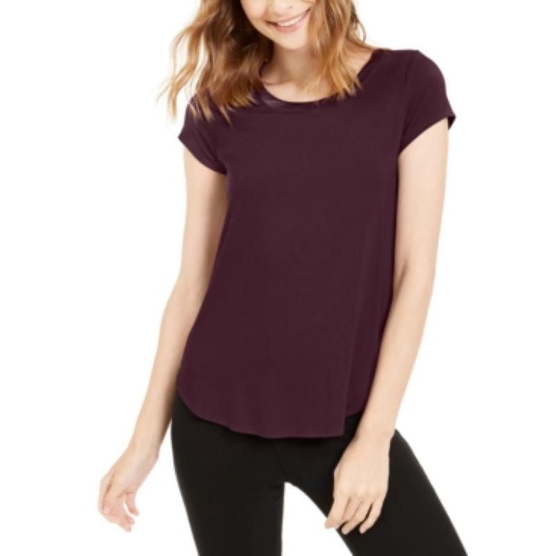 Alfani Satin-Trim High-Low T-Shirt, in Regular & Petite, Created for Macy's – Macy's Canada