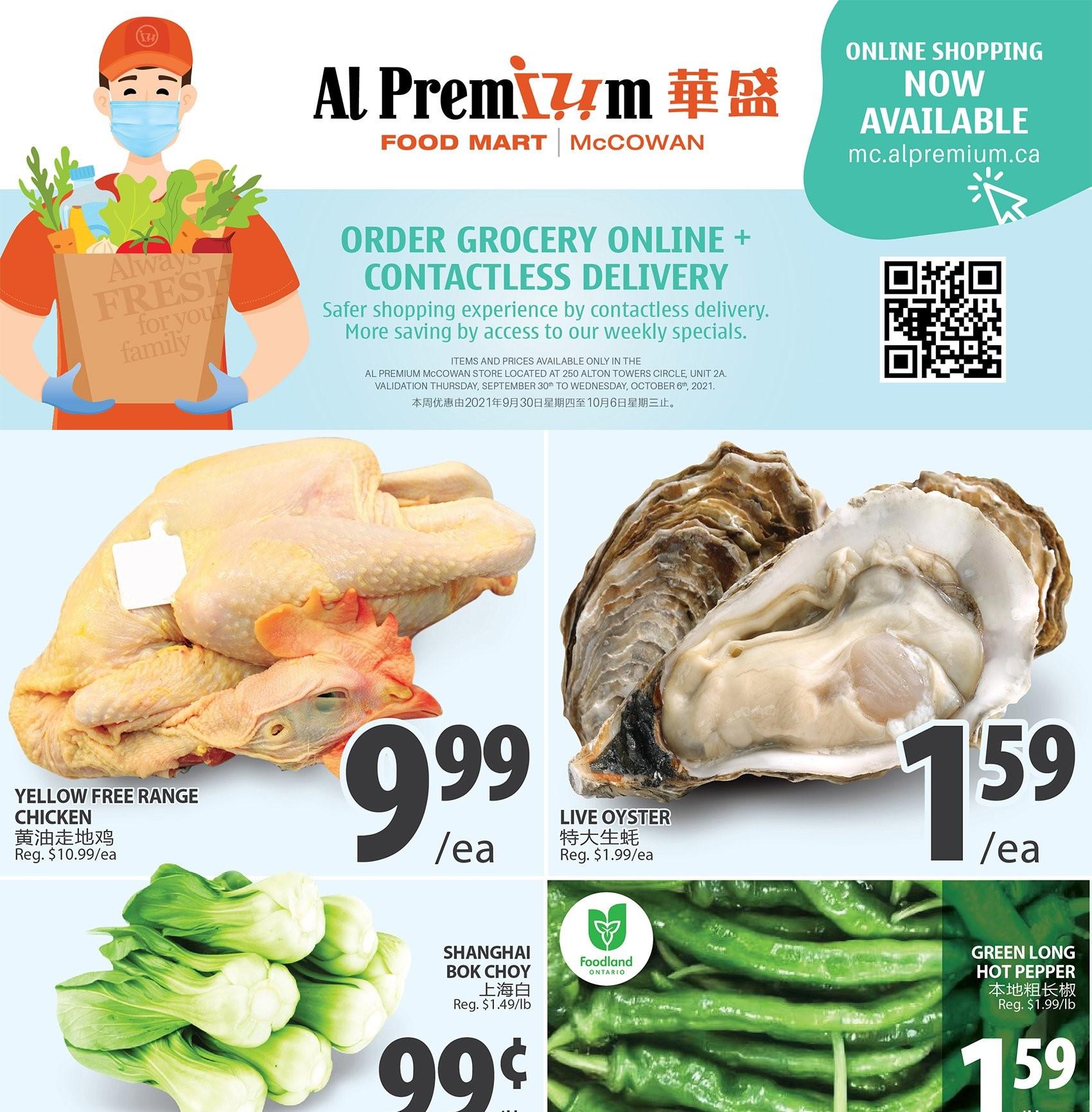 Al Premium Food Mart McCowan Flyer   Sep 30