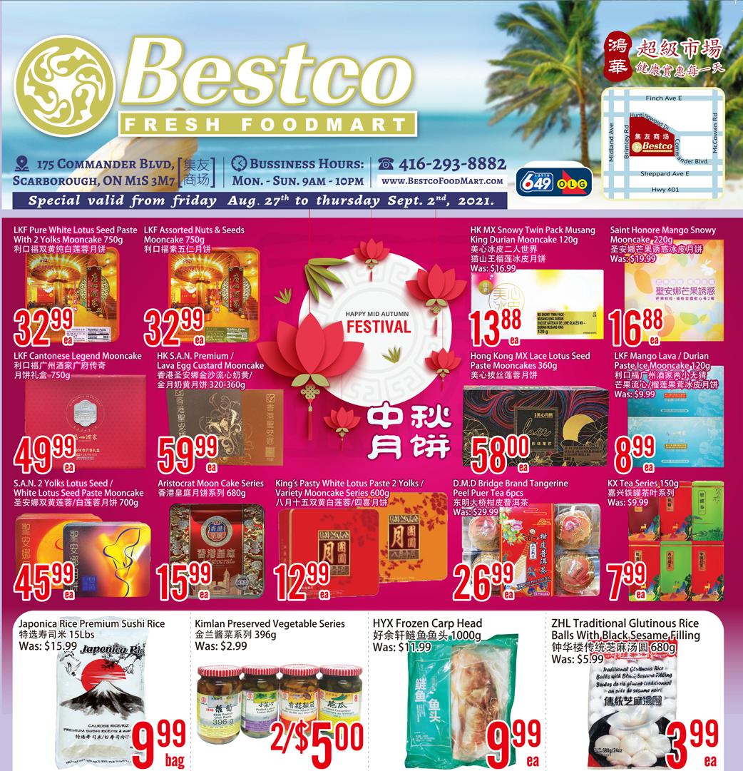 Bestco Fresh  Foodmart Flyer   Aug 27