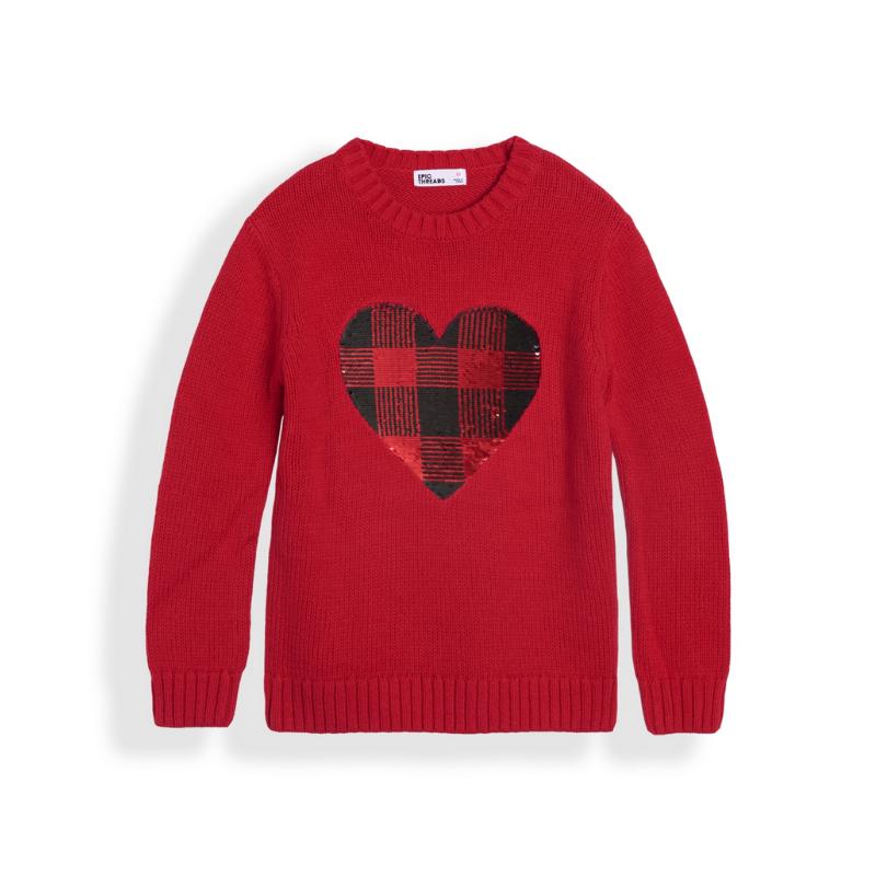Big Girls Flip Sequin Graphic Sweater – Macy's Canada