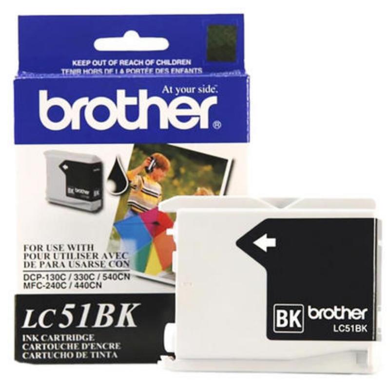 Brother LC51BK Black Ink Cartridge – 123Ink.ca