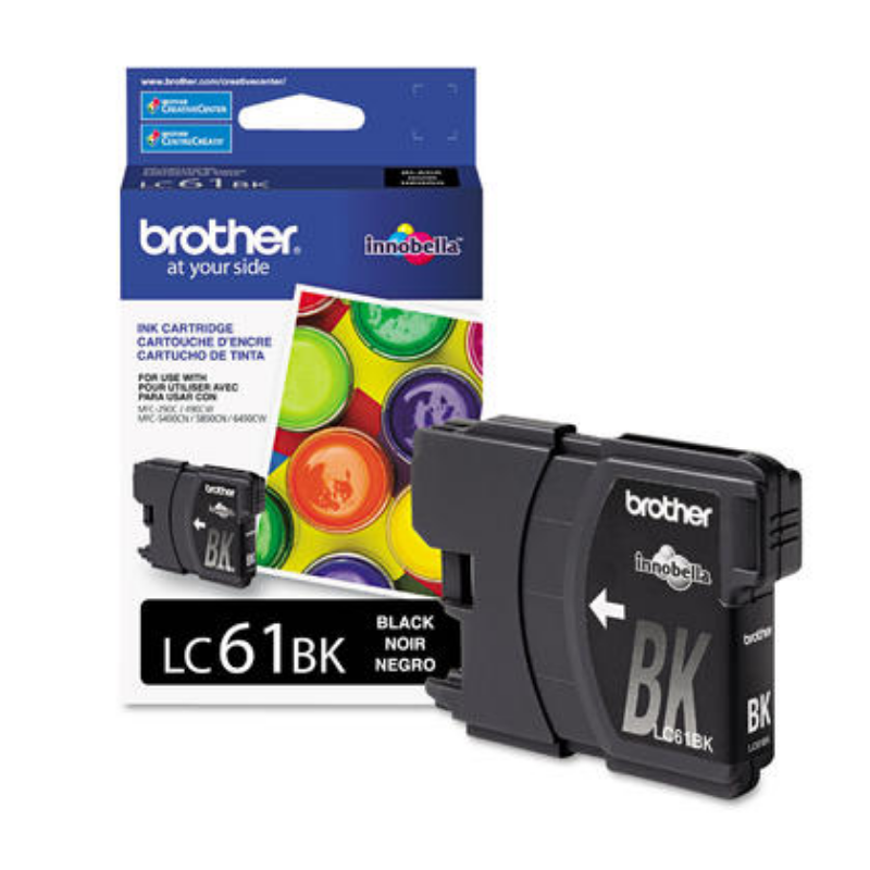 Brother LC61BK Black Ink Cartridge – 123Ink.ca