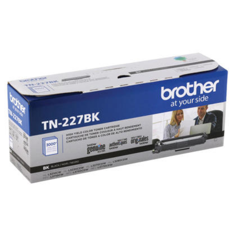 Brother TN227BK Black Toner Cartridge High Yield – 123Ink.ca