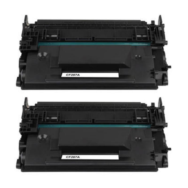Compatible HP 87A CF287A Black Toner Cartridge – Economical Box – 2/Pack – 123ink.ca