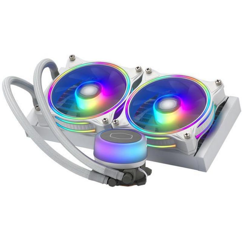 CoolerMaster MasterLiquid ML240 Illusion, Translucent Dome, 3rd Gen Dual Chamber Pump, 240 Radiator, Dual MF120 Halo for AMD Ryzen/Intel 1200/1151 – Newegg Canada