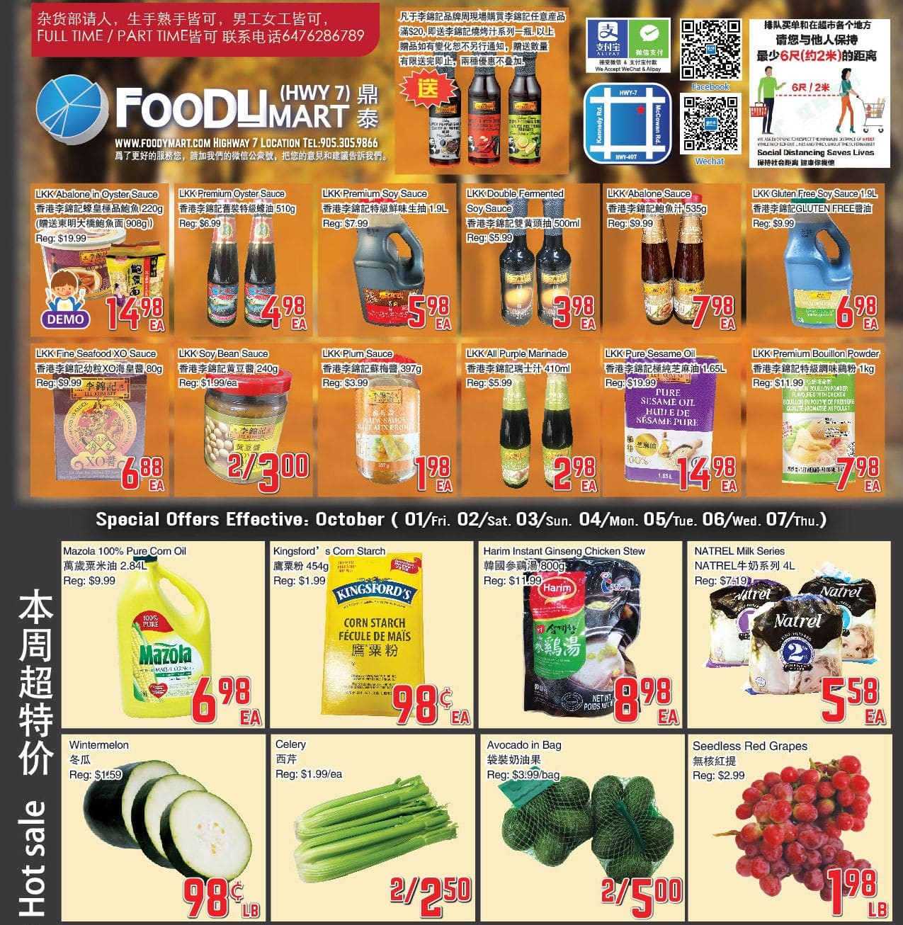 Foody Mart Highway 7 Flyer   Oct 1
