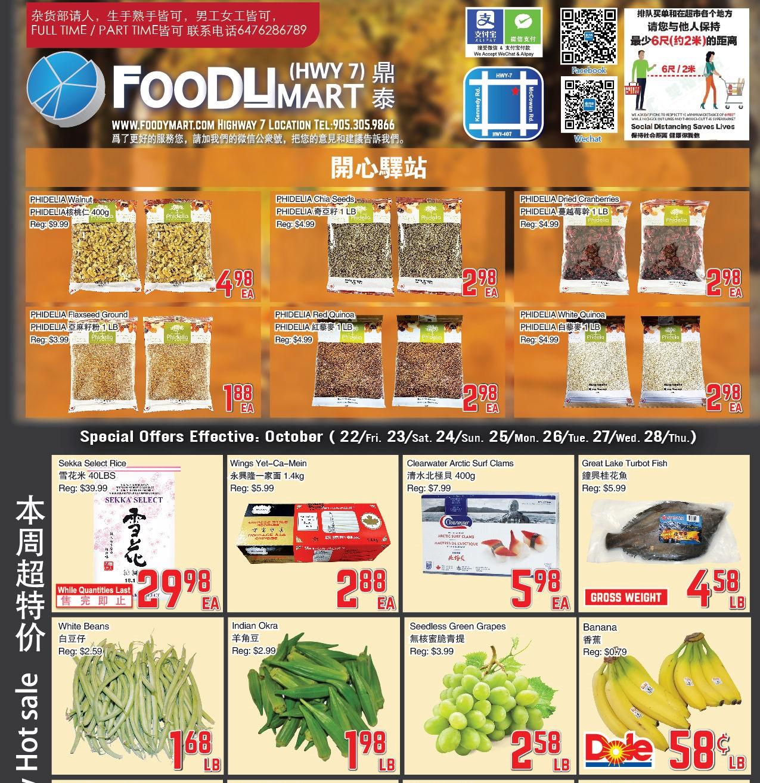 Foody Mart Highway 7 Flyer | Oct 22