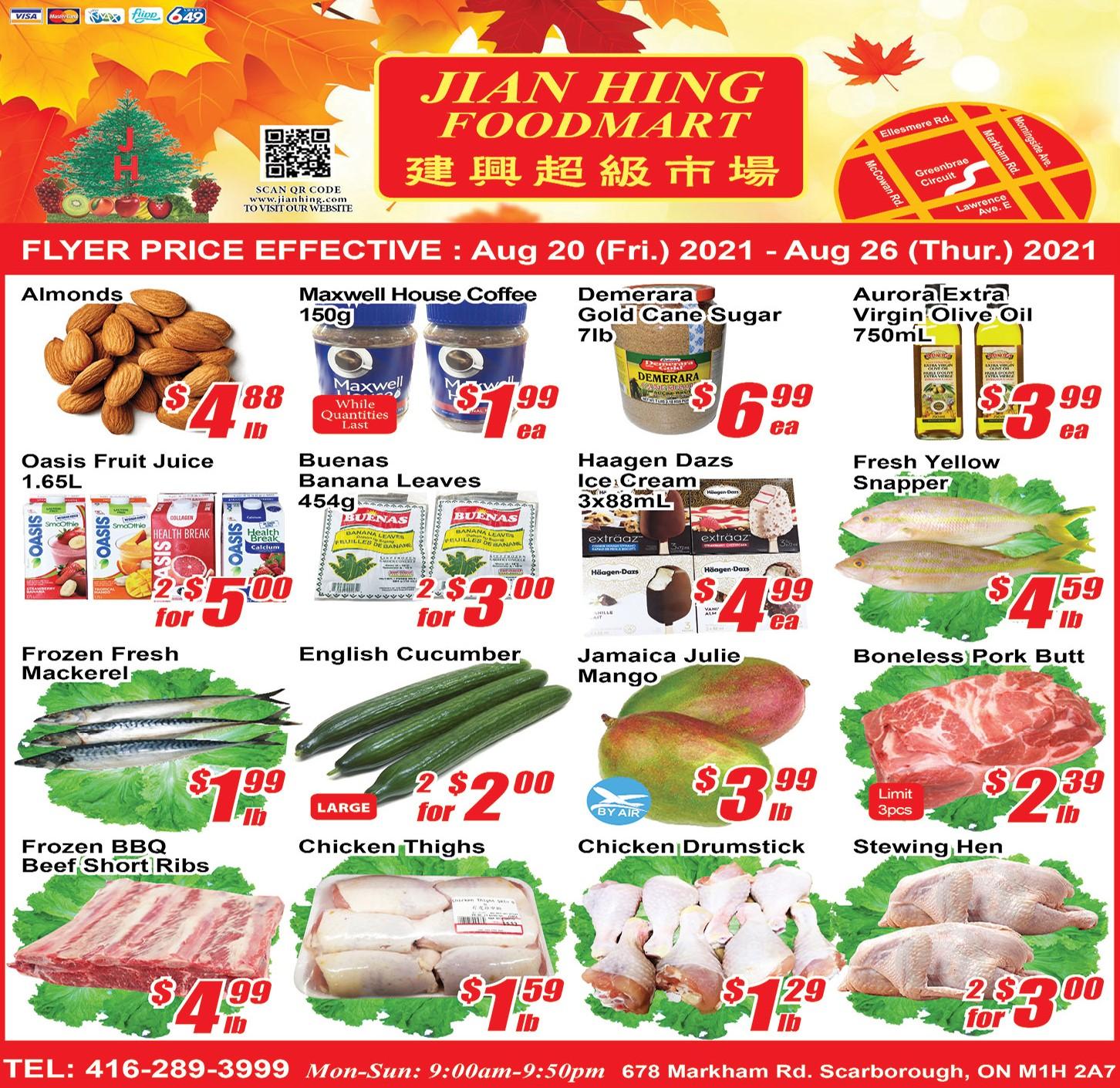 Jian Hing Foodmart Scarborough Flyer | Aug 20