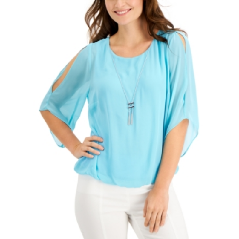 Jm Collection Bubble-Hem Necklace Top, Created for Macy's – Macy's Canada