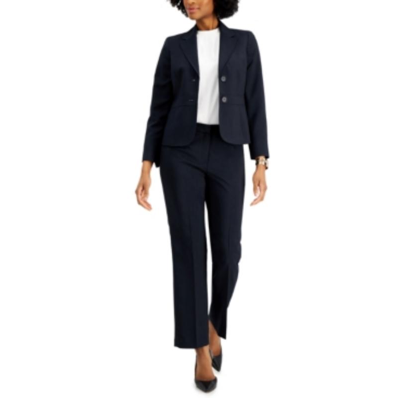 Le Suit Petite Notched-Lapel Pantsuit – Macy's Canada