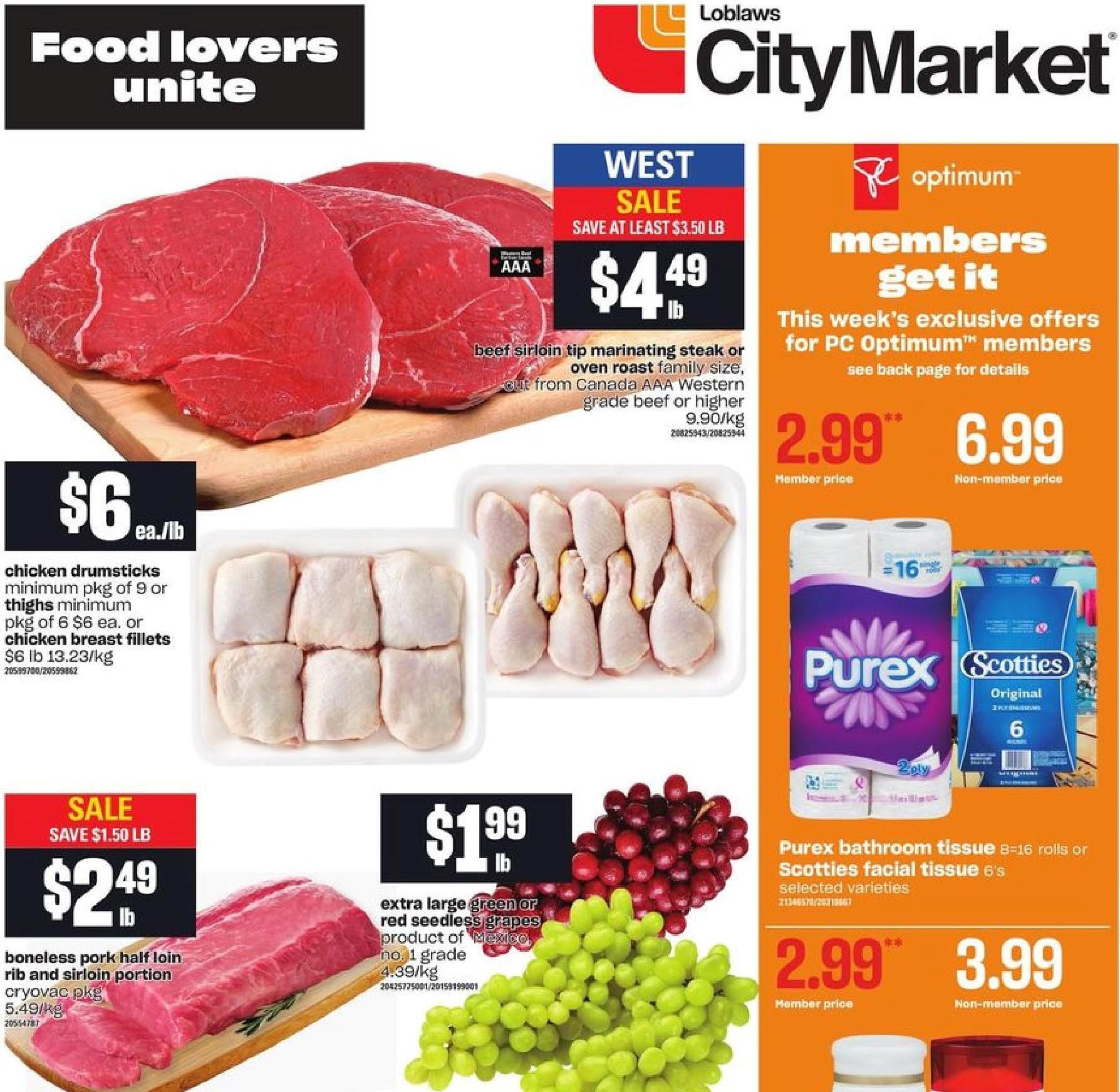 Loblaws City Market BC Flyer   Jul 8