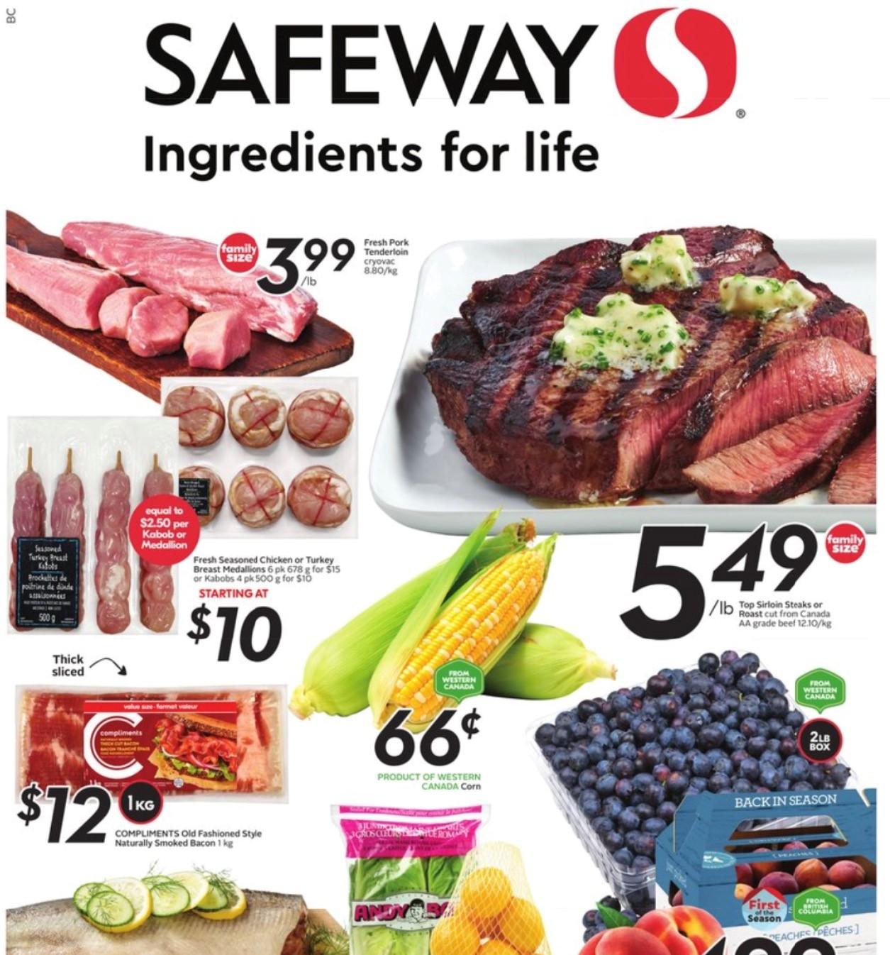 Safeway BC Flyer   Aug 12