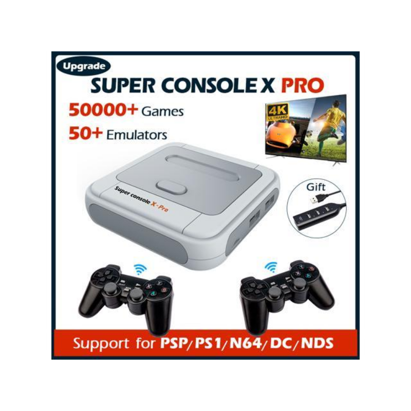 Super Game Console X Pro, Retro Video Game Console,4K HDMI TV Output Game Consoles Built-in 256G with 50000+ Video Games, Support for PS1/PSP/DC/N64 – Newegg Canada