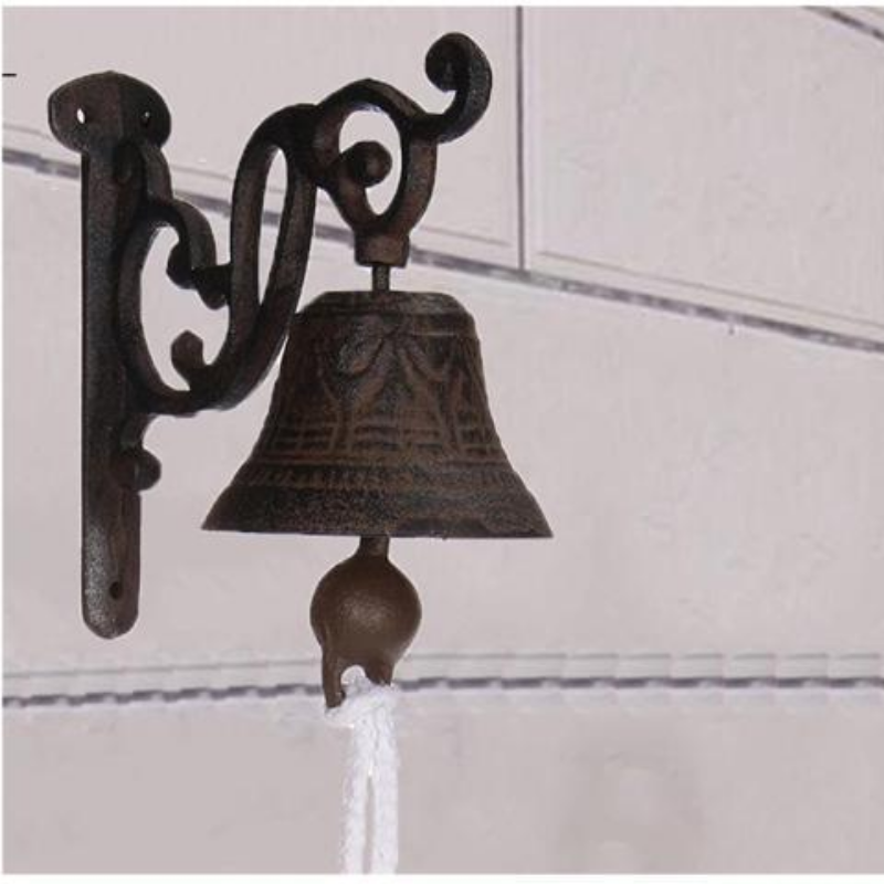 Vintage Antique Cast Iron Door Bell Chime Wall Mounted Rust Garden Decoration – Newegg Canada