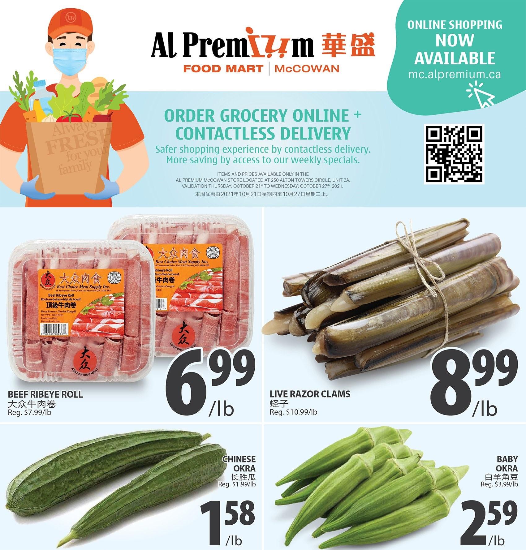 Al Premium Food Mart McCowan Flyer | Oct 21