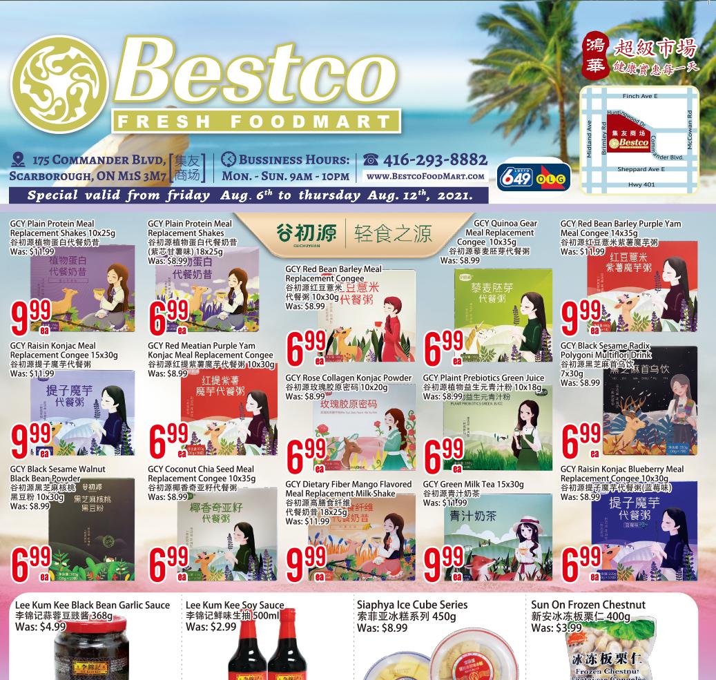 Bestco Fresh  Foodmart Flyer   Aug 6