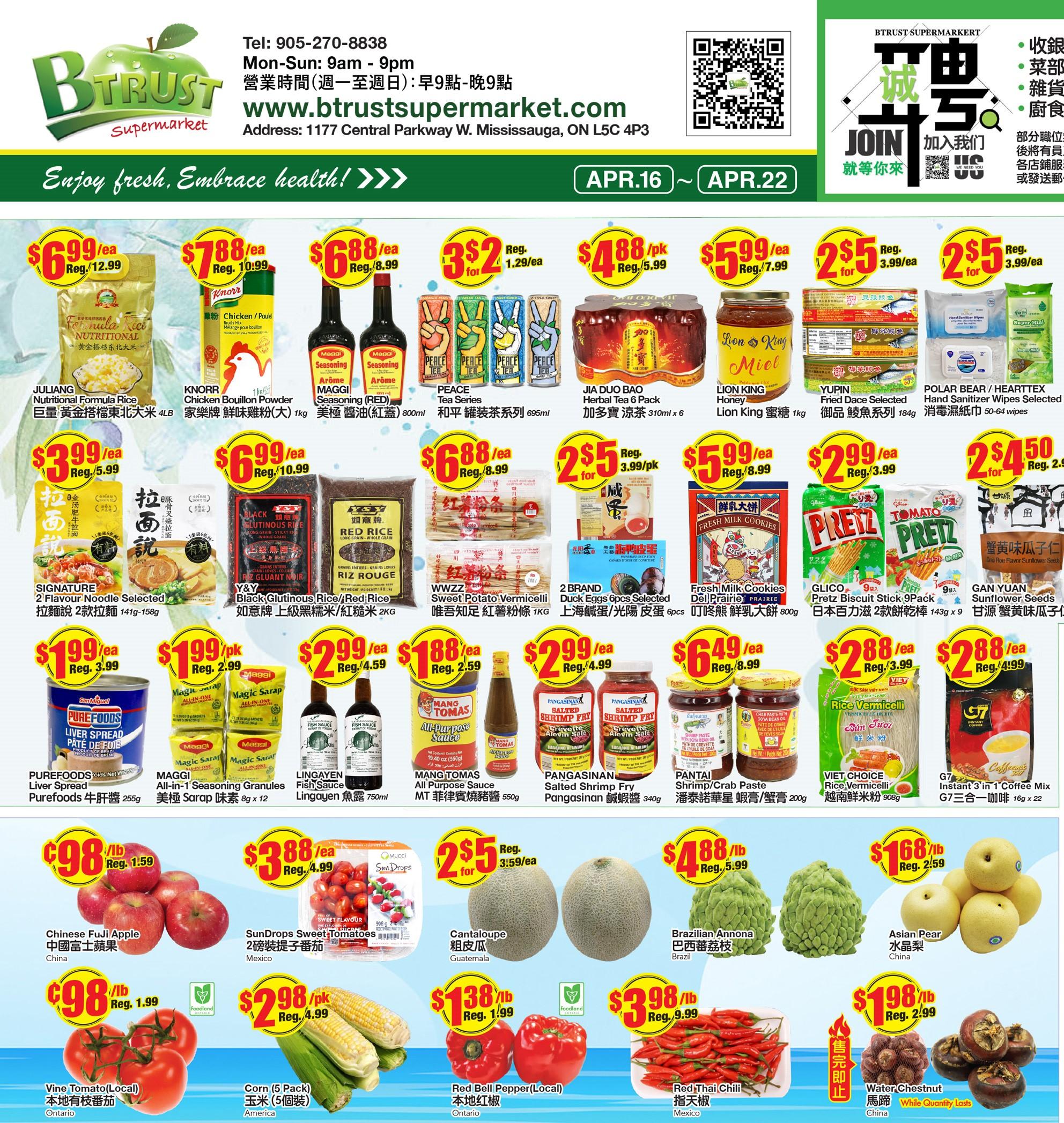 BTrust Supermarket Flyer Apr 16