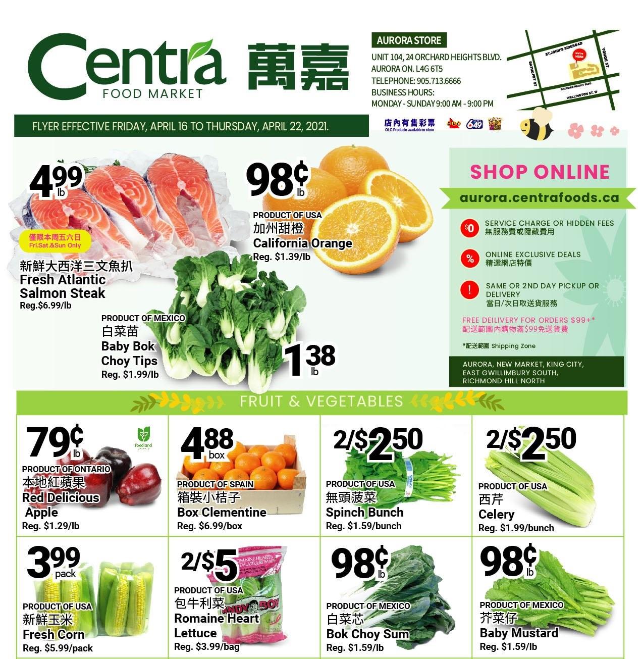 Centra Food Market Flyer Apr 16