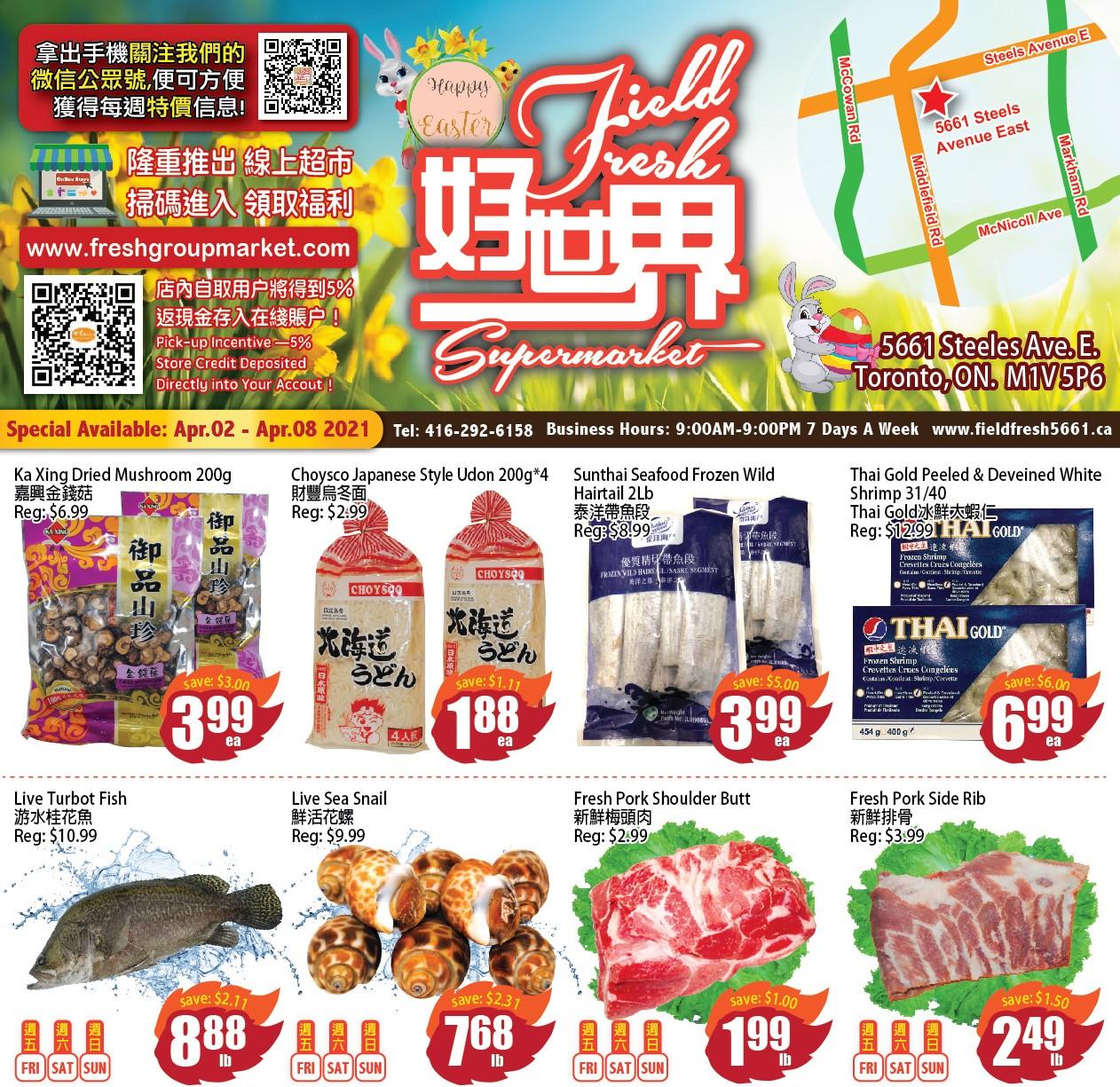 Field Fresh Supermarket Flyer Apr 2