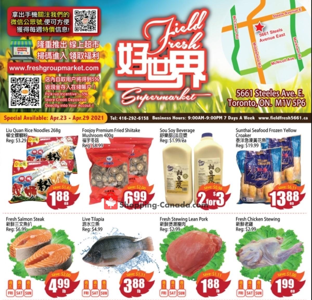 Field Fresh  Supermarket Flyer Apr 23