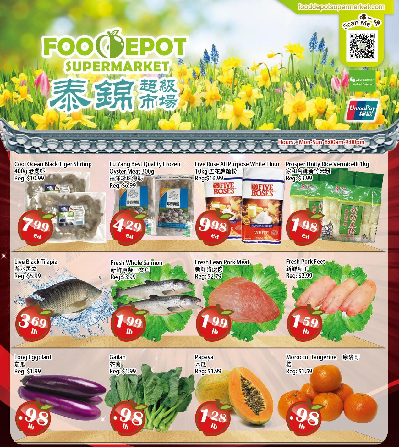 Food Depot Supermarket Flyer Apr 30
