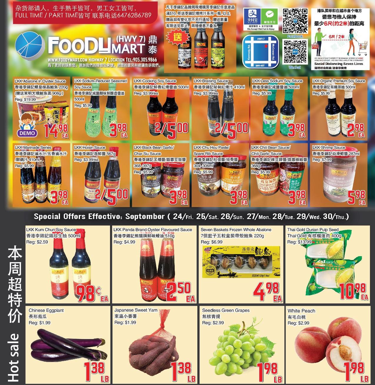 Foody Mart Highway 7 Flyer   Sep 24