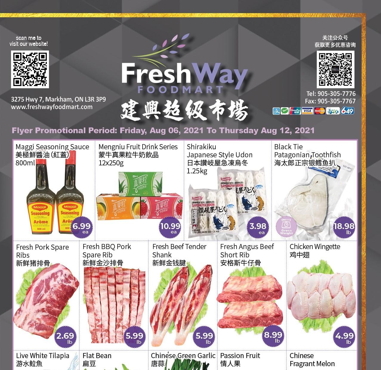 FreshWay Foodmart Flyer   Aug 6