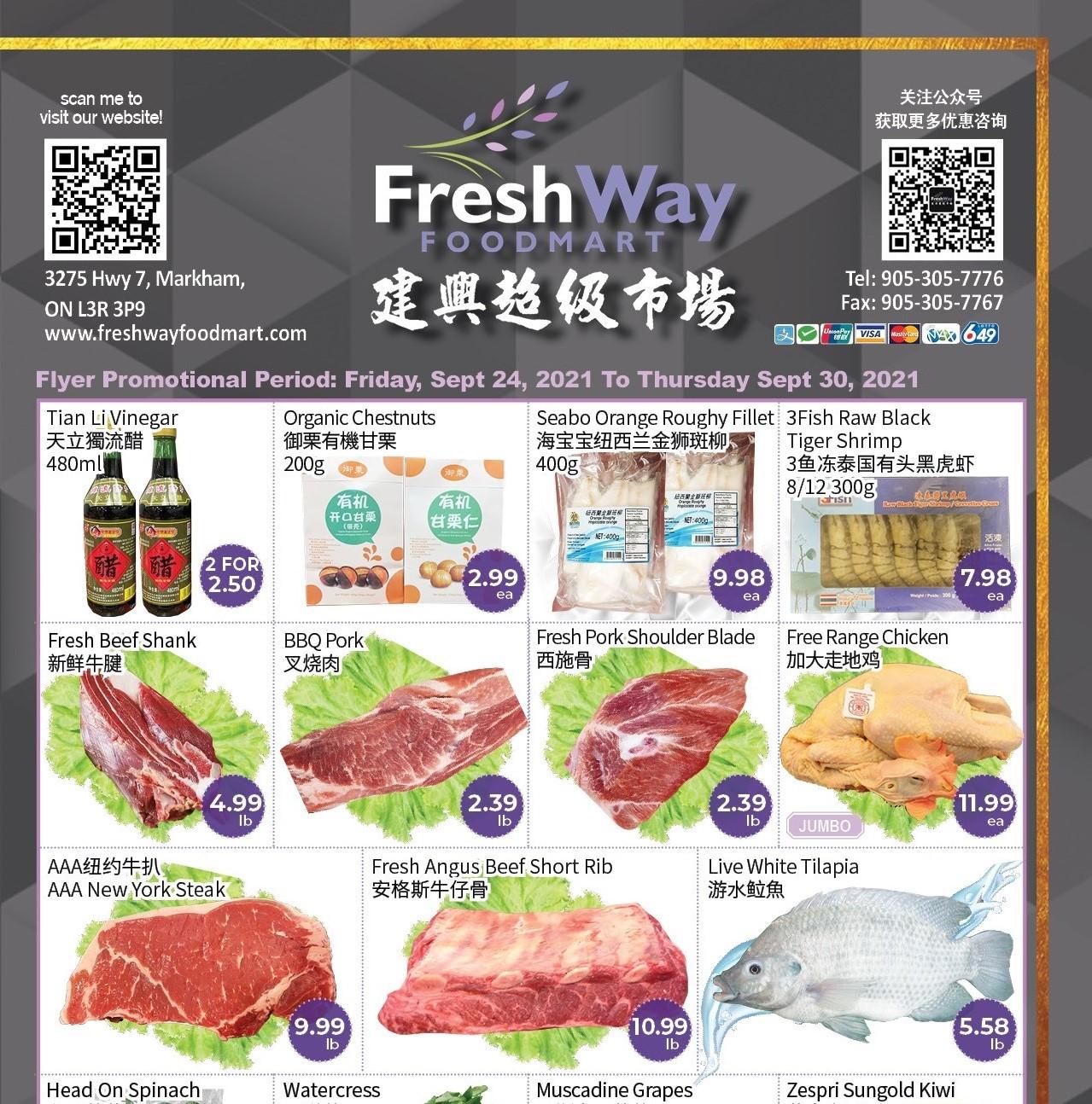 FreshWay Foodmart Flyer   Sep 24