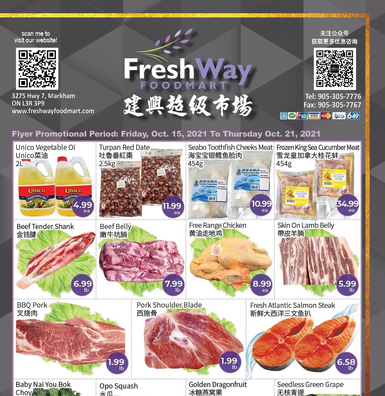 FreshWay Foodmart Flyer   Oct 15