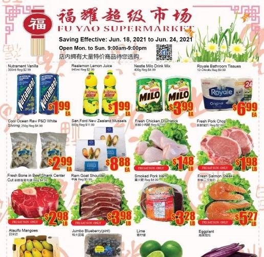 Fu Yao Supermarket Flyer | Jun 18