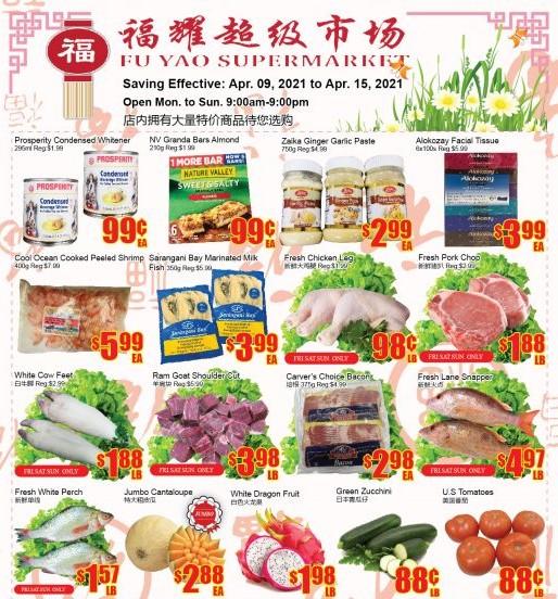 Fu Yao Supermarket Flyer Apr 9