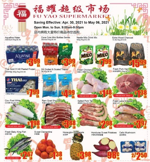 Fu Yao Supermarket Flyer Apr 30