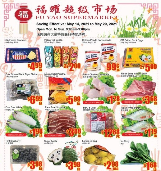 Fu Yao Supermarket Flyer May 14