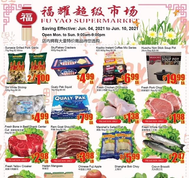 Fu Yao Supermarket Flyer Jun 4