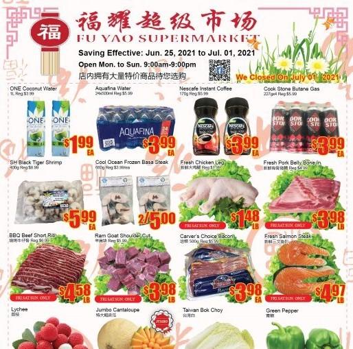 Fu Yao Supermarket Flyer | Jun 25