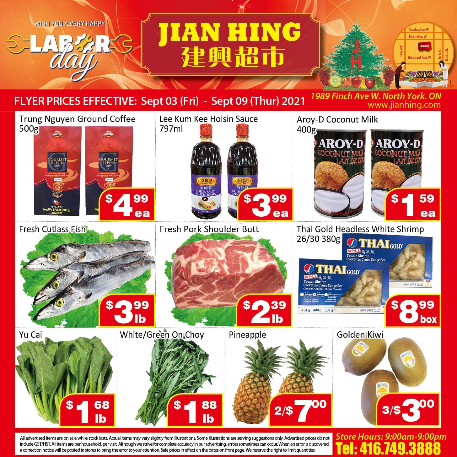 Jian Hing Supermarket Northyork Flyer | Sep 3