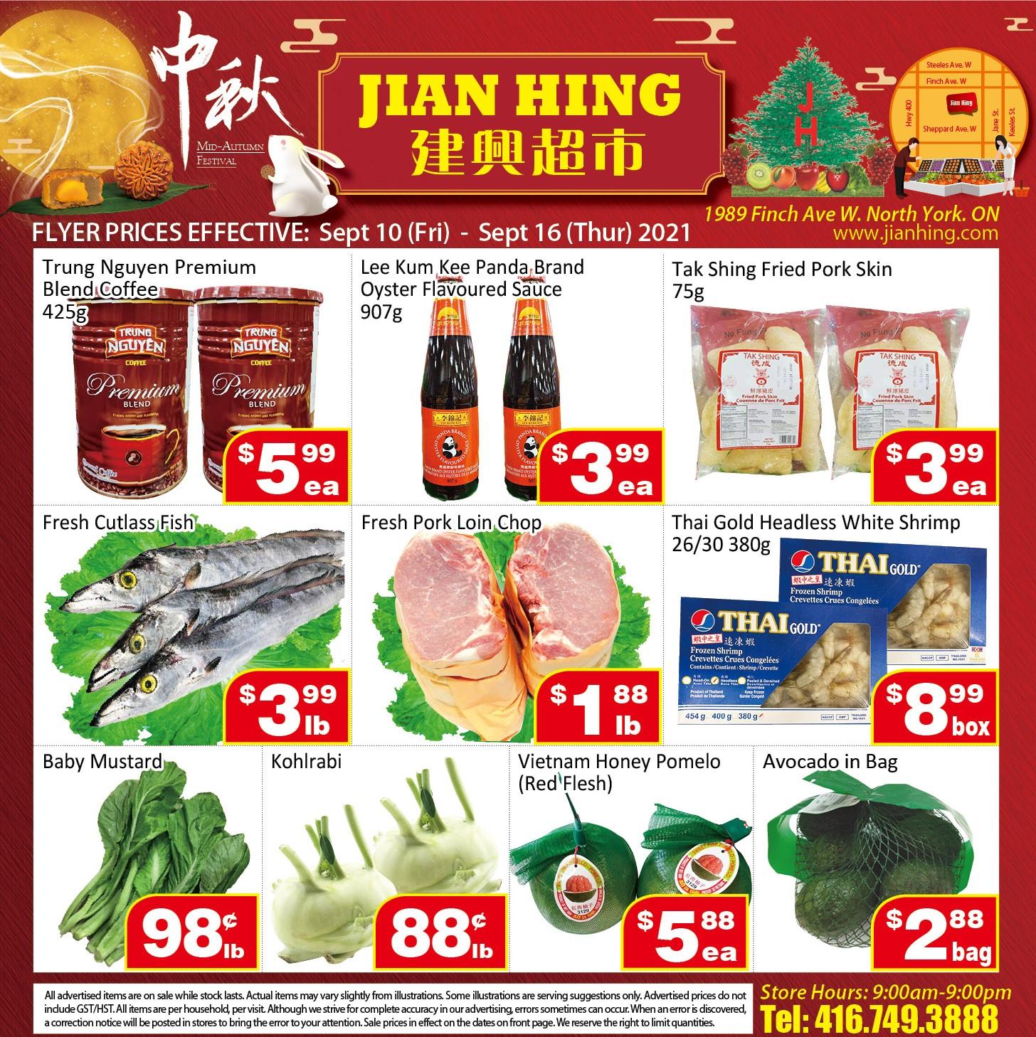 Jian Hing Supermarket Northyork Flyer | Sep 10