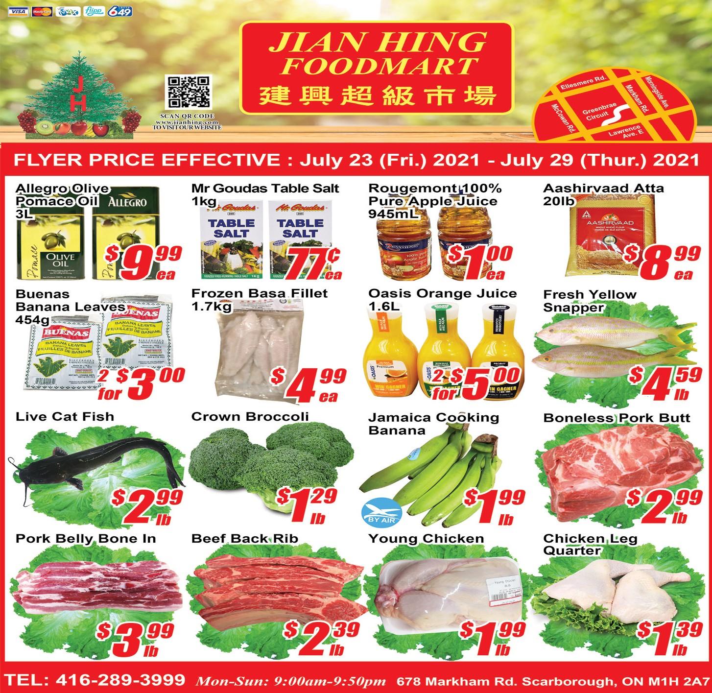 Jian Hing Foodmart Scarborough Flyer | Jul 23