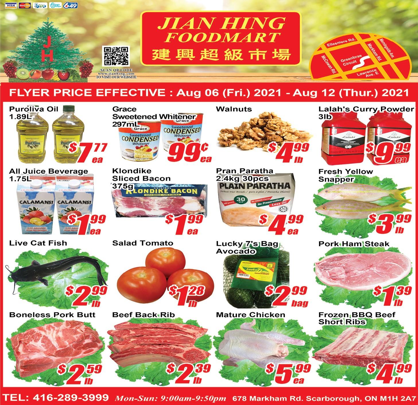 Jian Hing Foodmart Scarborough Flyer | Aug 6