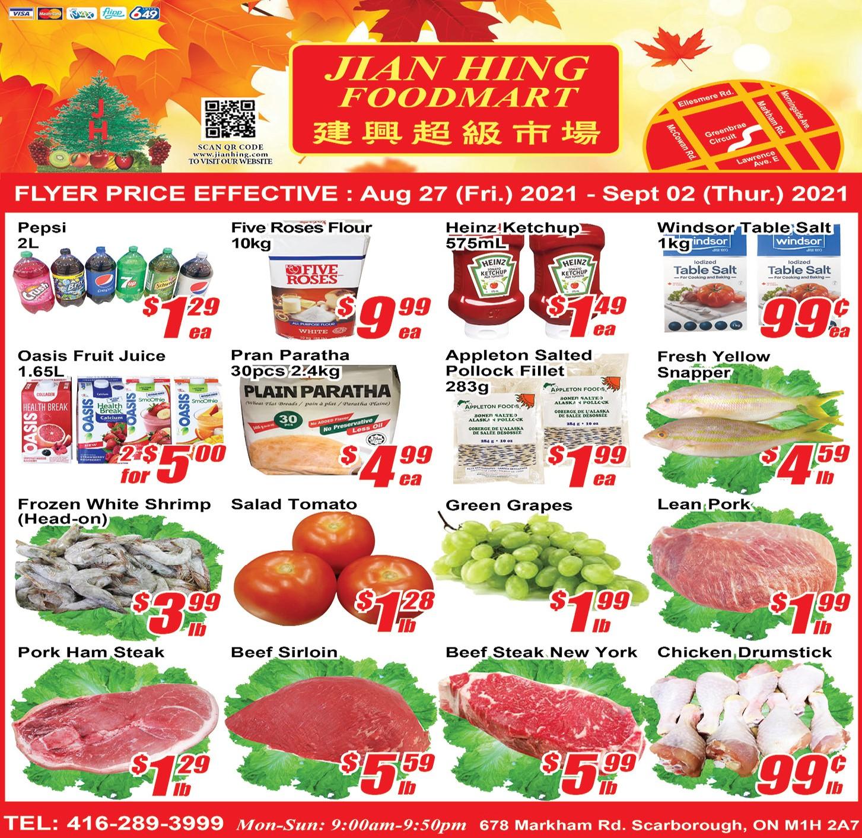 Jian Hing Foodmart Scarborough Flyer | Aug 27