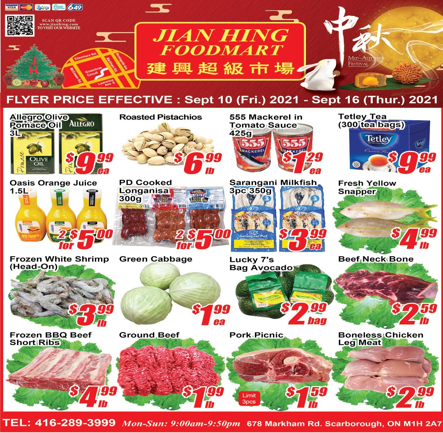 Jian Hing Foodmart Scarborough Flyer | Sep 10