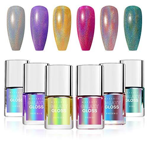 Makartt Holographic Nail Polish 6 Packs