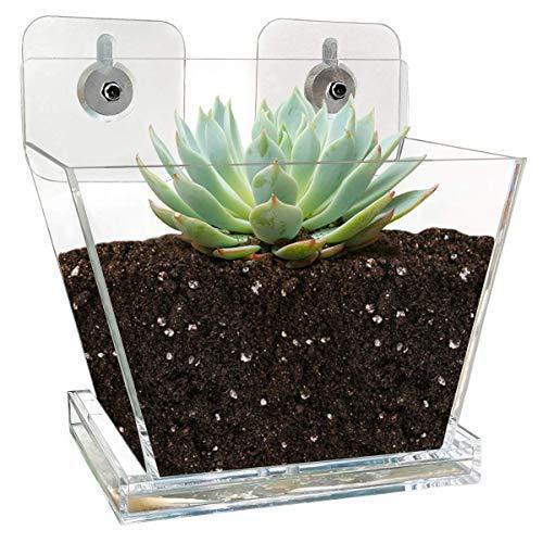 NIUXX Window Flower Pot with Tray