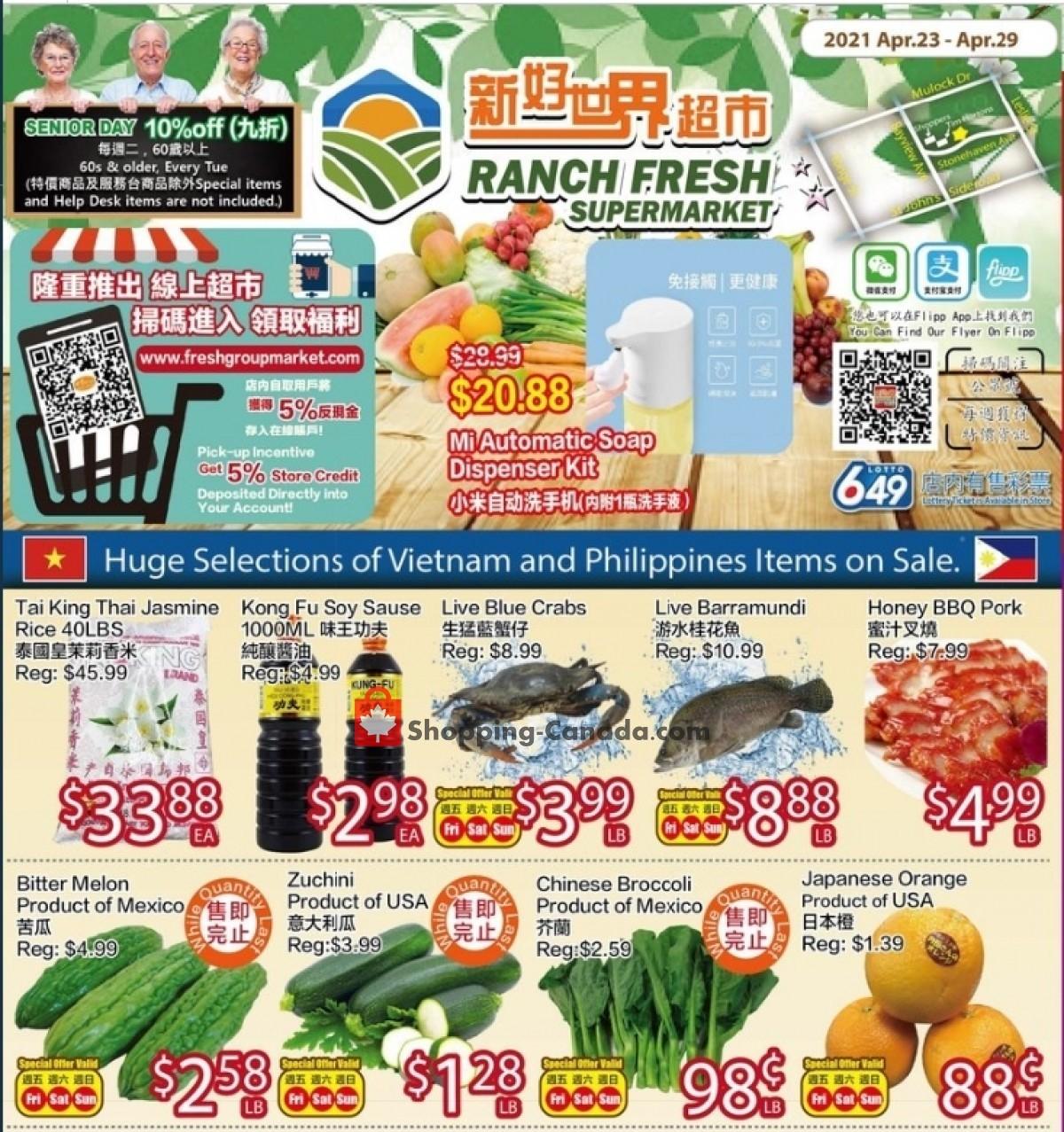 Ranch Fresh Supermarket Flyer Apr 23