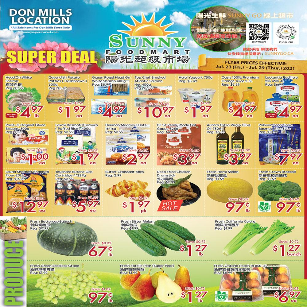 Sunny Foodmart Don Mills Flyer   Jul 23