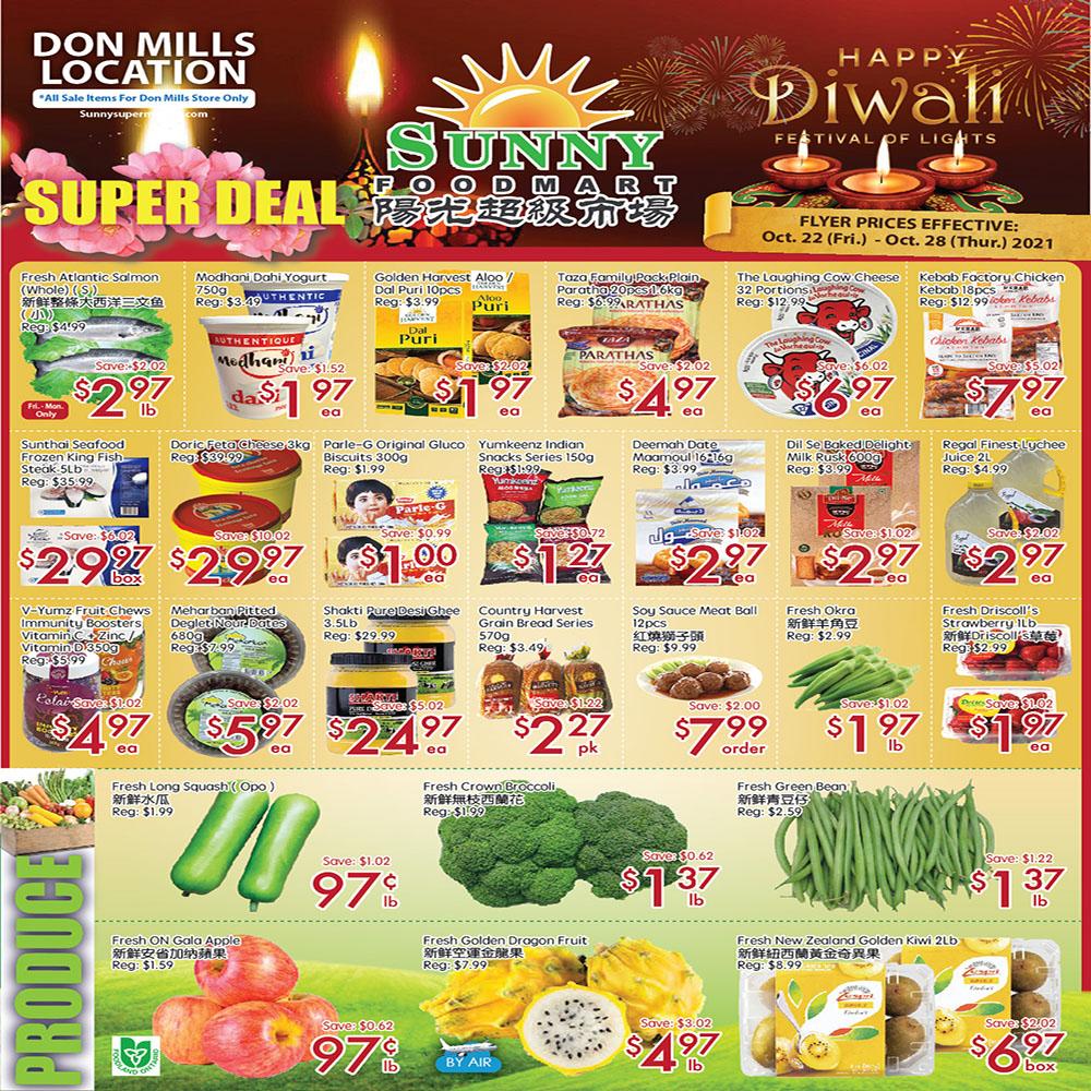 Sunny Foodmart Don Mills Flyer | Oct 22