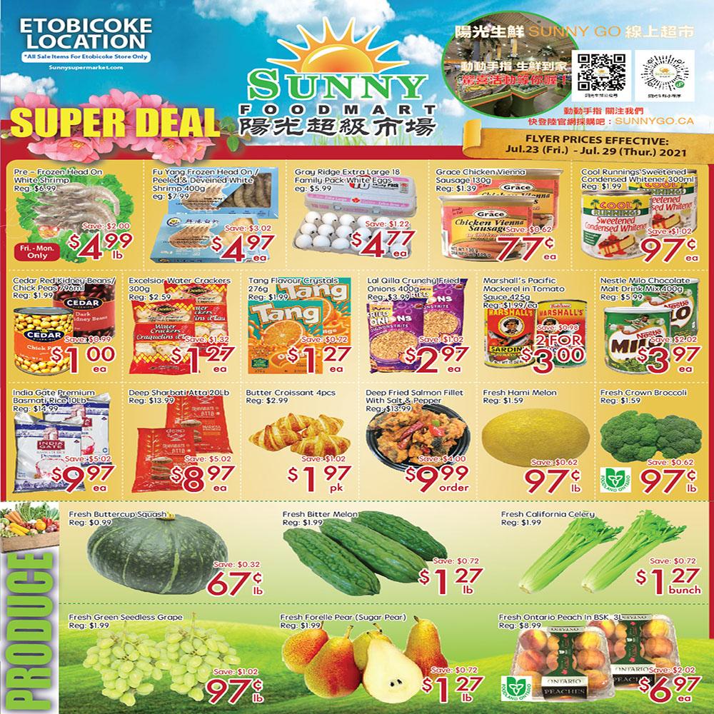 Sunny Foodmart Etobicoke Flyer   Jul 23