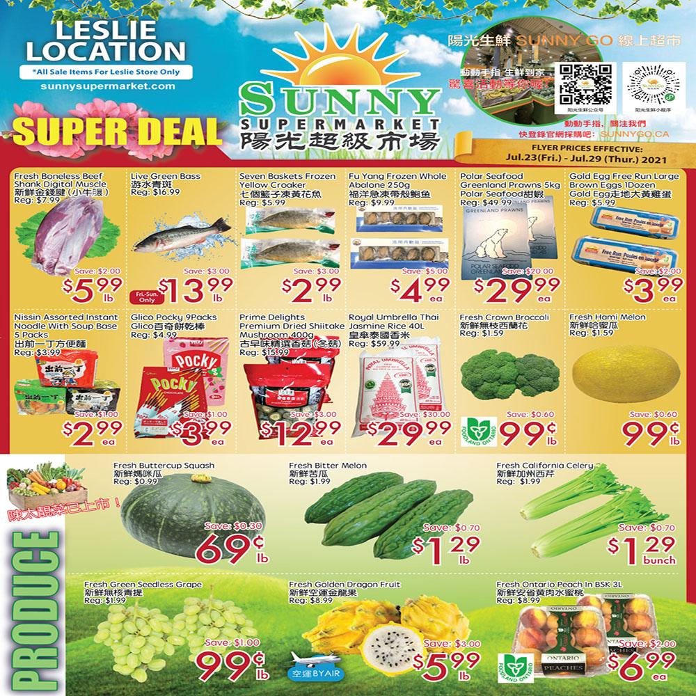 Sunny Supermarket Leslie Flyer   Jul 23
